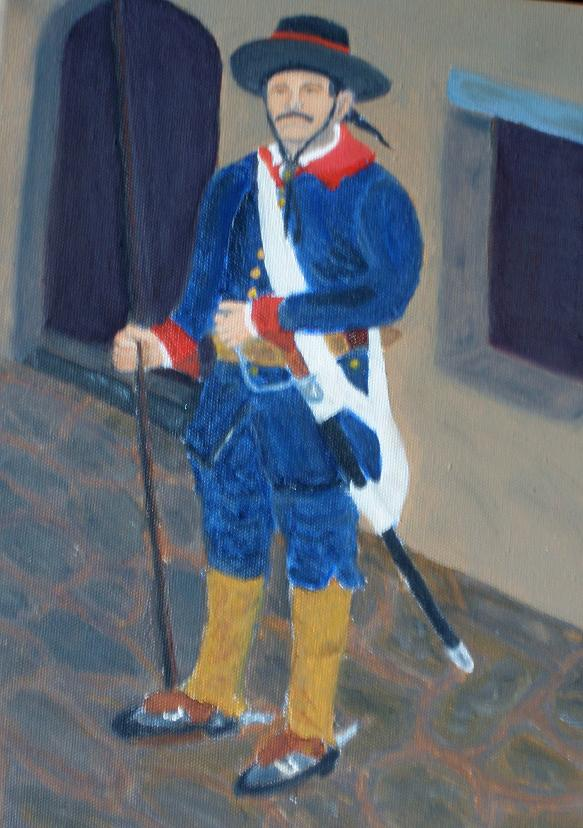 1780 Presideo Uniform (Oil Painting)